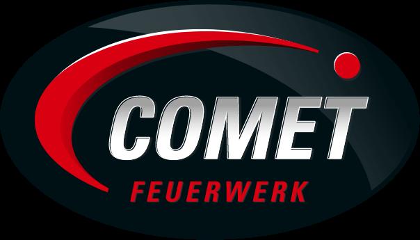 Logo Comet Feuerwerk mit Spiegelung