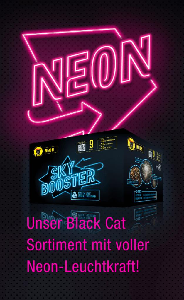 unser Black Cat Sortiment mit voller Neon-Leuchtkraf!