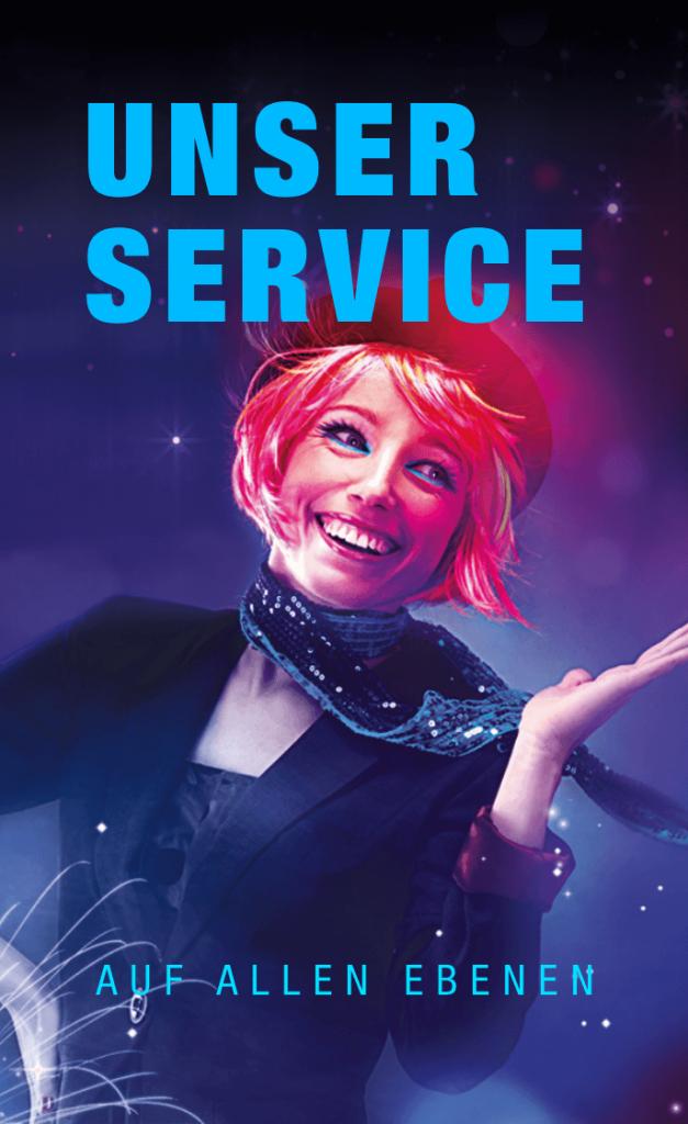"""Link zum Thema """"Unser Service"""" auf allen Ebenen"""