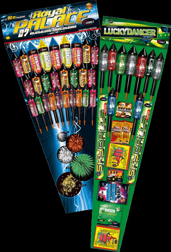Produktfoto Vielfalt verschiedene Raketen